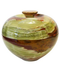 Шкатулка из оникса (яблоко) 11*12,5 см.