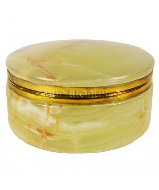 Шкатулка из оникса (круг) 5,5*10 см.