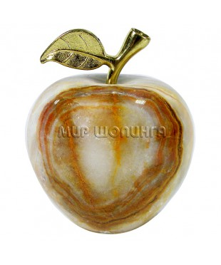 Яблоко из оникса 7*6 см.
