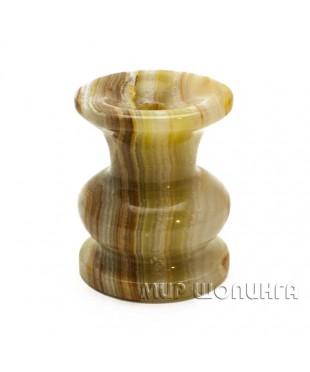 Подсвечник из Оникса 5х4 см. (тонкая свеча).
