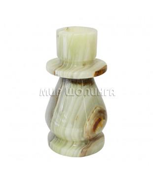 Подсвечник из Оникса 9,5*5 см. (толстая свеча).
