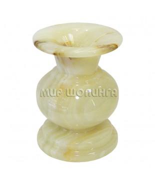 Подсвечник из Оникса 9,5*6 см. (средняя свеча).