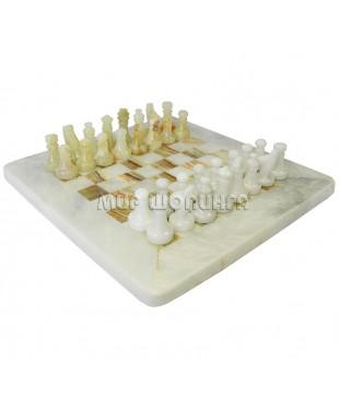 Шахматы из оникса 23 см.